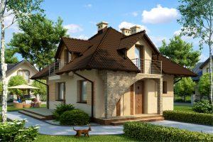 Проект загородного каркасного дома