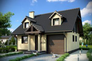 Модель каркасного дома «под ключ»